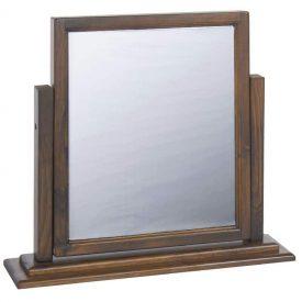 Dark Wood Makeup Mirror Tilting [Boston]