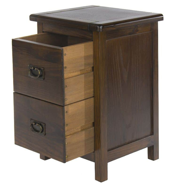 Dark wood petite bedside cabinet cheap furniture for Cheap bedside cabinets