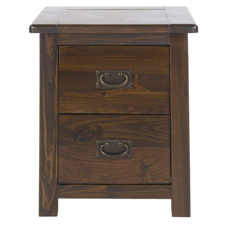 2 drawer bedside cabinet in dark wood cheap furniture for Cheap furniture companies