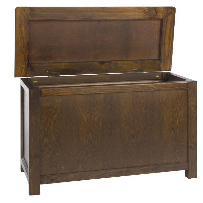 Boston Premium Dark Wood Ottoman Cheap Furniture