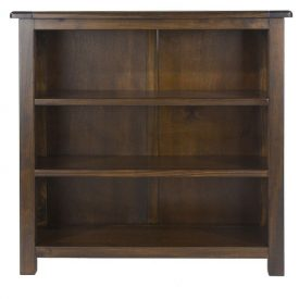 Dark Wood Low Bookcase 2 Shelves [Boston]