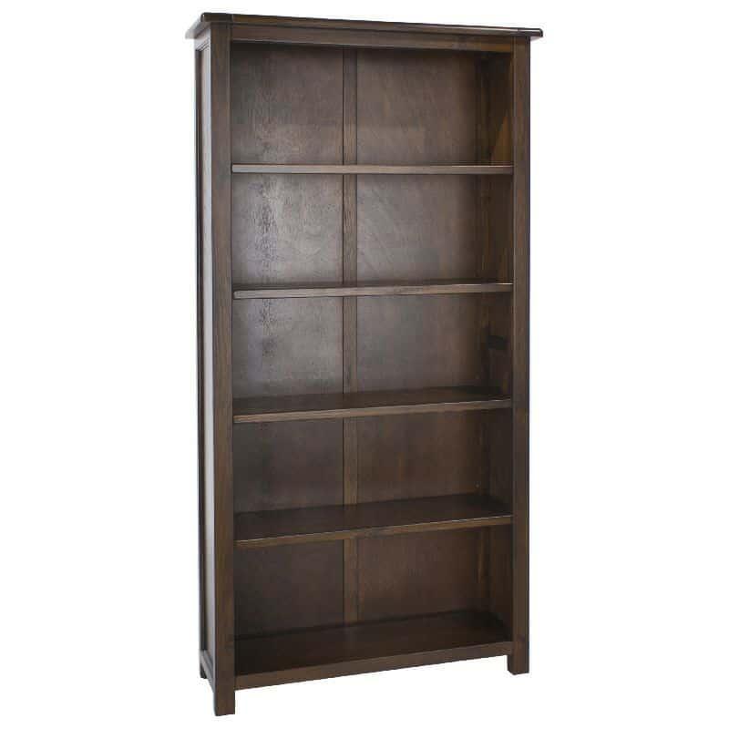 4 Shelf Bookcase Premium Dark Wood Cheap Furniture
