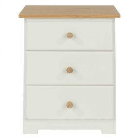Colorado 3 Drawer Bedside Cabinet