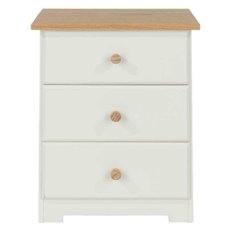 Colorado 3 Drawer Bedside Cabinet