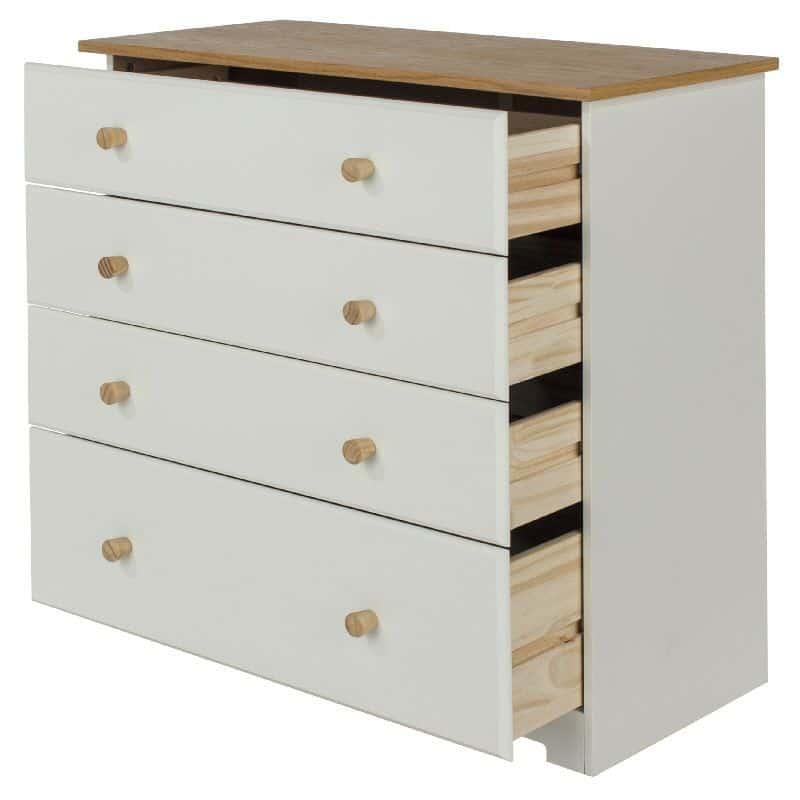 Colorado 4 drawer chest white pine cheap furniture for Cheap furniture companies