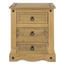 Corona 3 Drawer Bedside Cabinet