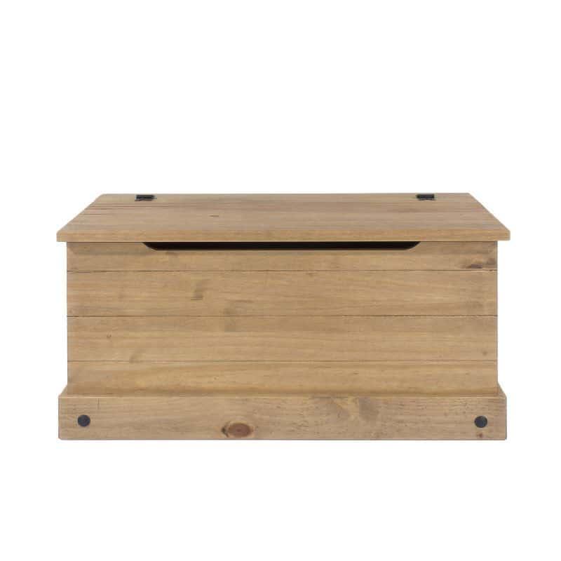 Corona blanket box in pine black cheap furniture for Cheap furniture uk