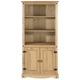 Corona 3 Shelf 2 Door Bookcase