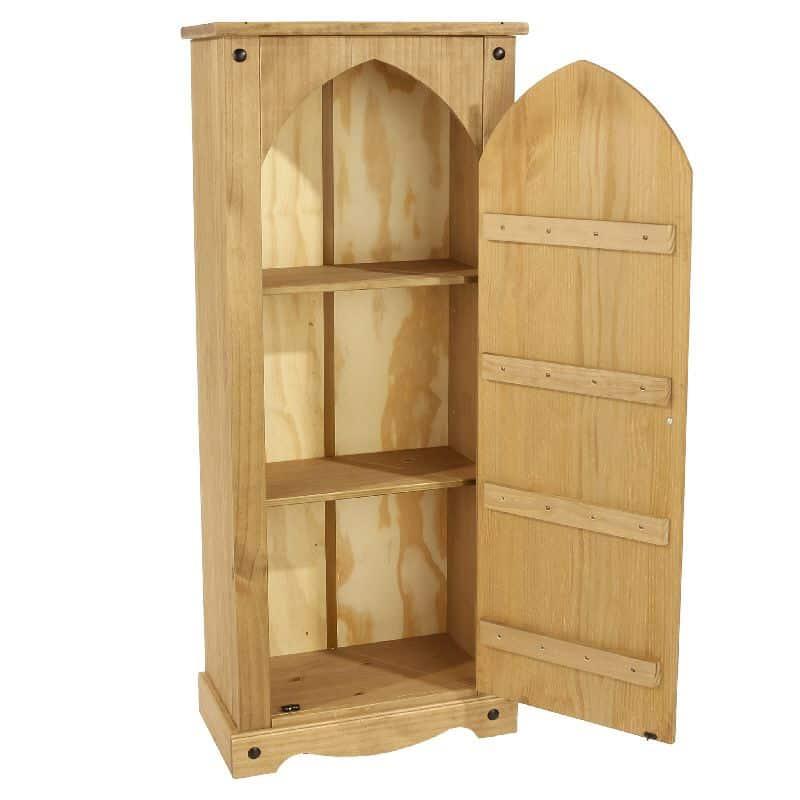 Corona vestry cupboard in pine black cheap furniture for Cheap pine furniture