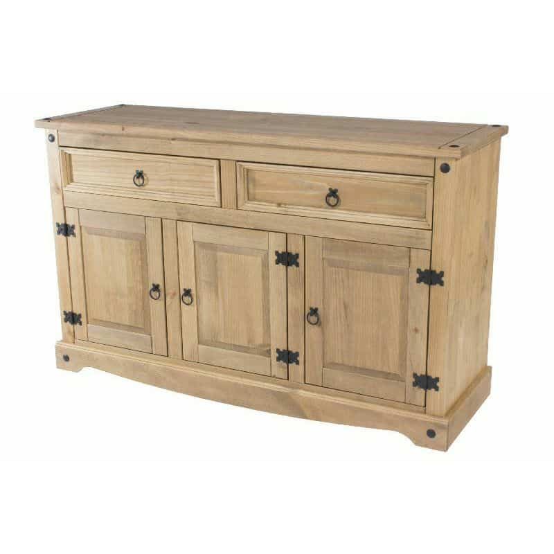 Pine sideboard 3 doors 2 drawers cheap furniture for Cheap pine furniture