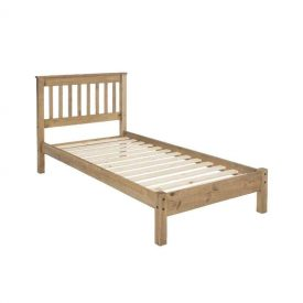 Single Low End Bedstead With Slatted Headboard