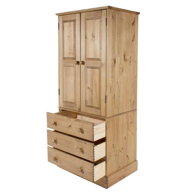 cotswold 2 door 3 drawer wardrobe cheap furniture. Black Bedroom Furniture Sets. Home Design Ideas