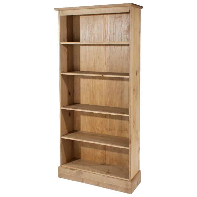 Cotswold Tall Bookcase Solid Pine Cheap Furniture