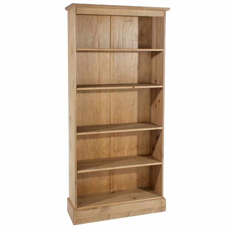 Cotswold tall bookcase solid pine cheap furniture for Cheap furniture companies