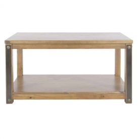 Forge Open Coffee Table with Low Shelf