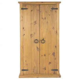 Farmhouse 2 Door Wardrobe with Top Shelf