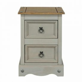 Corona grey petite bedside cabinet