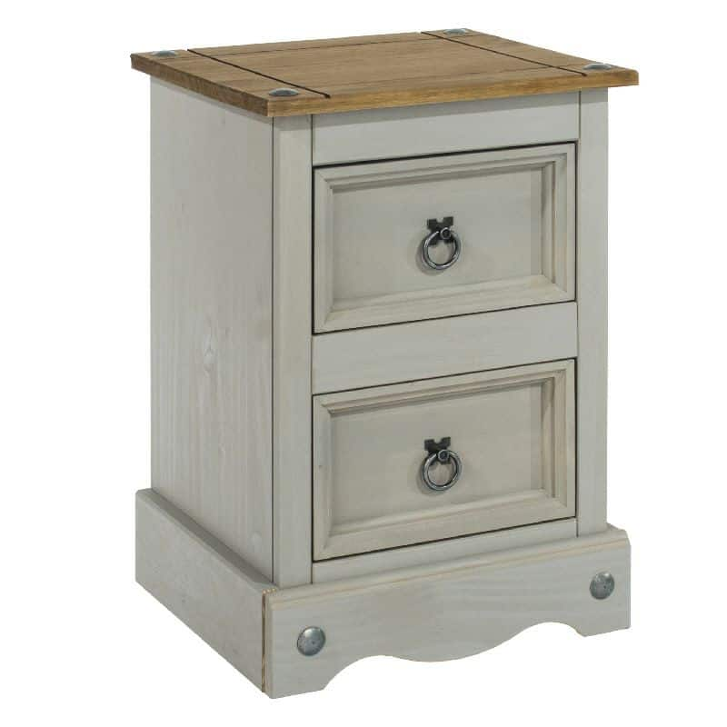 Grey Washed Petite Bedside Cabinet Cheap Furniture