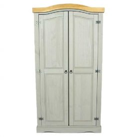 Corona Grey Washed double wardrobe