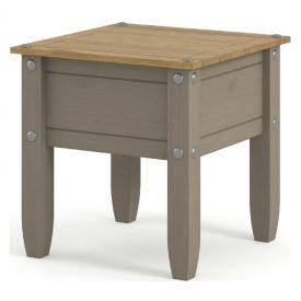 Light Grey Lamp Table 1 Drawer [Corona Grey]