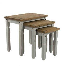 Light Grey Nest of 3 Tables [Corona Grey]
