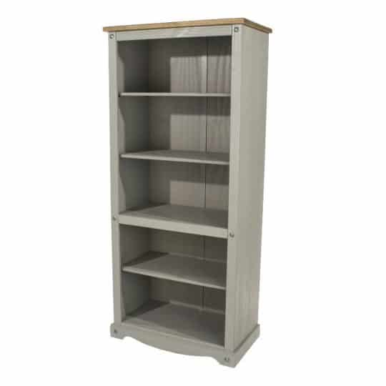 Corona grey tall bookcase
