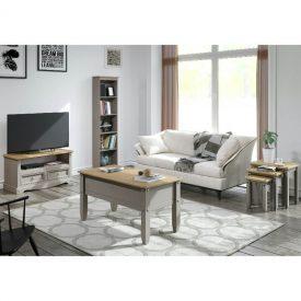 Light Grey & Pine Coffee Table [Corona Grey]