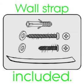 Wall strap included