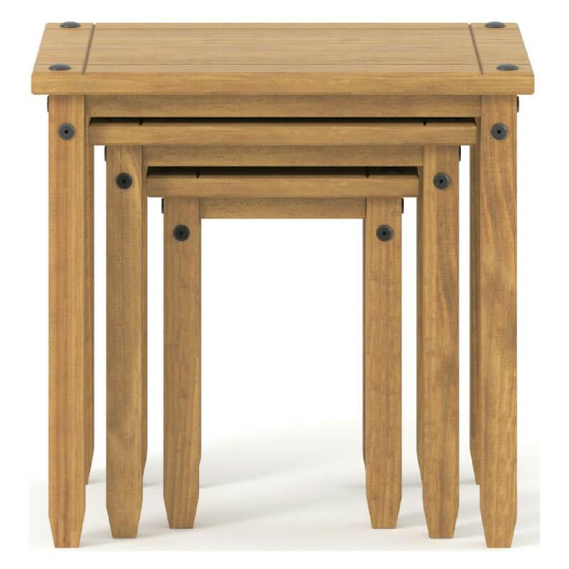 Pine Nest of 3 Tables [Corona]