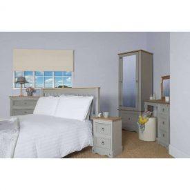 Light Grey Small Bedside Unit 2 Drawers [Corona Grey]