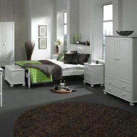 White Small Wardrobe 2 Doors 2 Drawers [Copenhagen]