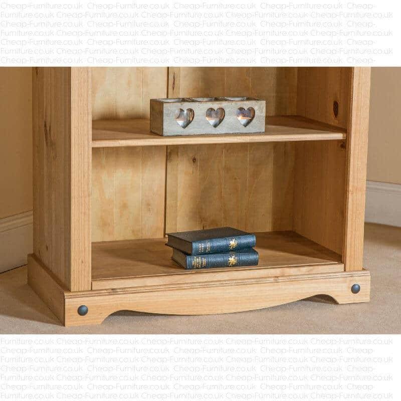 Cheap But Nice Furniture: Corona Waxed Pine Tall Bookcase.