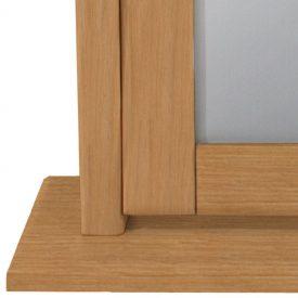 Oak Large Dressing Table Mirror Tilt Stand