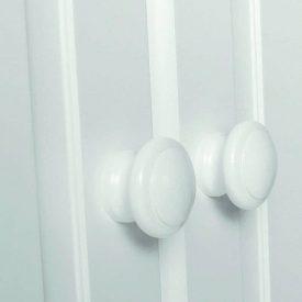 White Triple Wardrobe with 4 Drawers [Copenhagen]