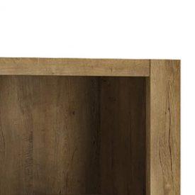Oak & Matt Black TV Unit 2 Doors 1 Drawer [Havana]