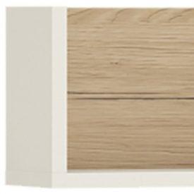 Oak & White Sectioned Wall Shelf [4KIDS]