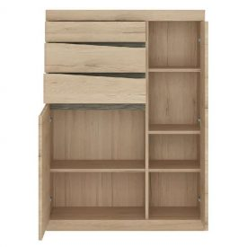 Oak Cupboard 2 Doors 3 Drawers [Kensington]