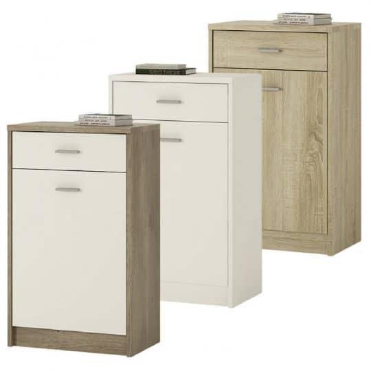 Oak Or White Cupboard 1 Door 1 Drawer 4you Cheap Furniture