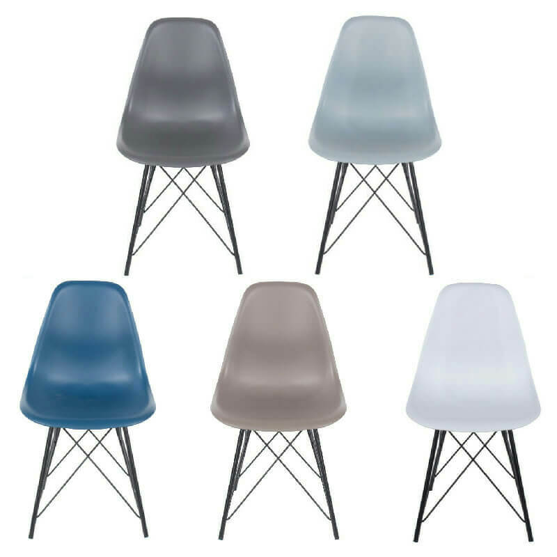 Plastic & Metal Chairs (x2) 5 Colours [Aspen]