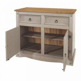 Light Grey Small Sideboard [Corona Grey]