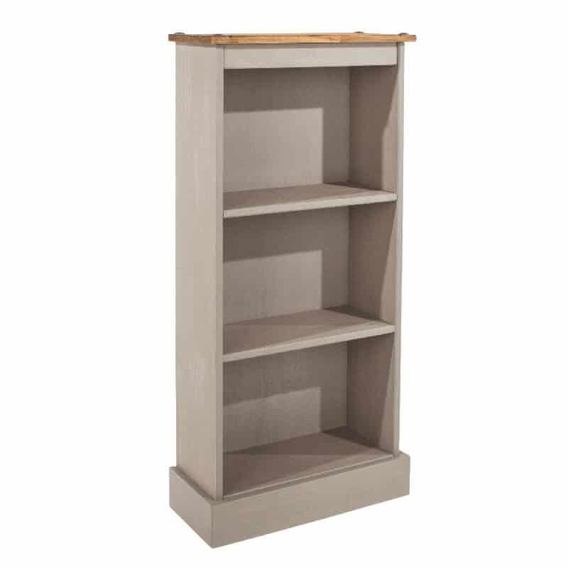 Light Grey Low Narrow Bookcase [Corona Grey]