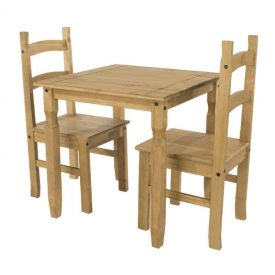 b1ca6eb99b2 Corona Pine Dining Set. Square Table and 2 Chairs