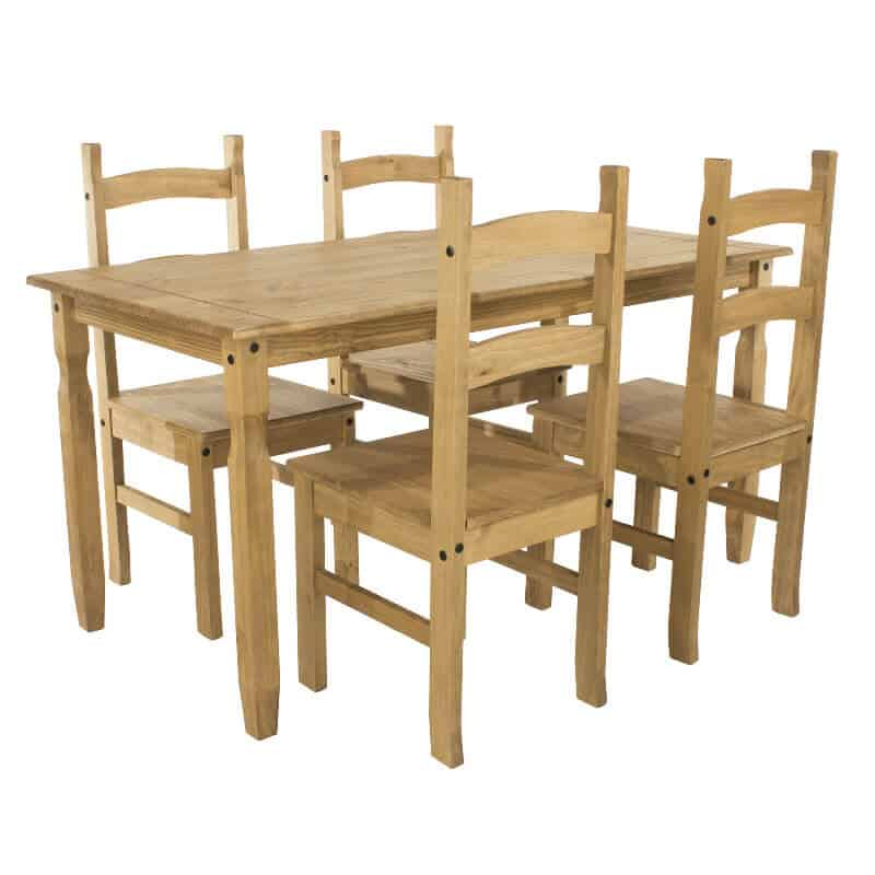 Corona Pine Dining Set 4 Chairs And A Small Or Large
