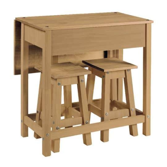 Swell Pine Breakfast Bar Set 2 Stools Table Corona Evergreenethics Interior Chair Design Evergreenethicsorg