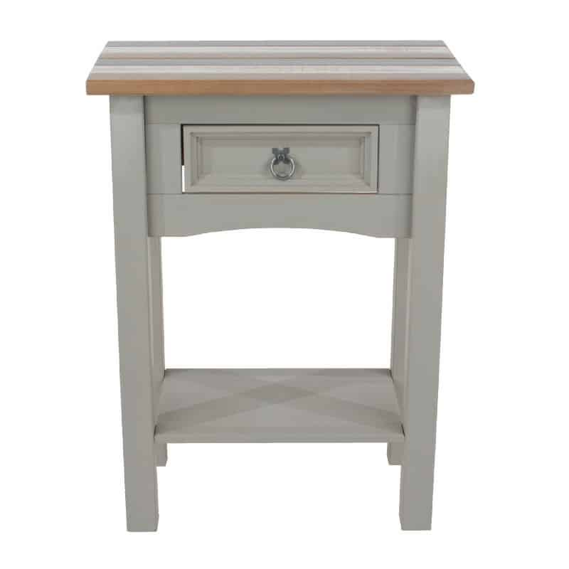 Grey Console Table 1 Drawer [Corona Vintage]