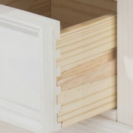 White Dressing Table Pine Top 3 Drawers [Corona]