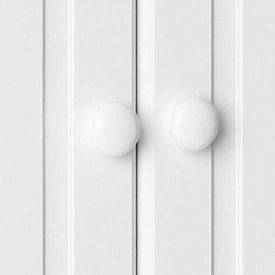 White Double Combi Wardrobe with 2 Drawers [Scandi]