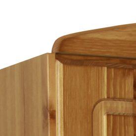 Pine Combi Wardrobe 2 Doors 2 Drawers [Scandi]