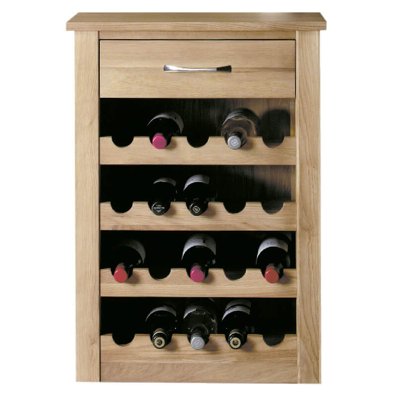 Solid Oak Wine Rack or Lamp Table [Mobel]