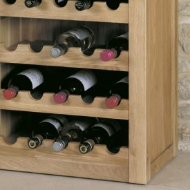 Solid Oak Wine Rack or Lamp Table [Mobel]
